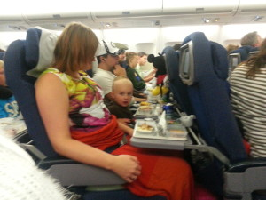 Kevin på flyet